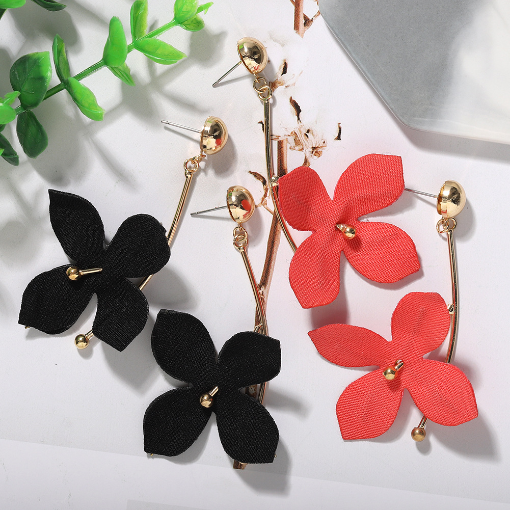 Jewellery for women Korean fashion mesh texture flower earrings cheap wholesales yiwu NHJQ202608