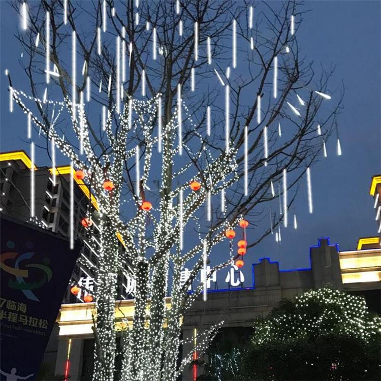 亚马逊热销 UL认证LED流星灯户外庭院防水装饰彩虹管流星雨树挂灯