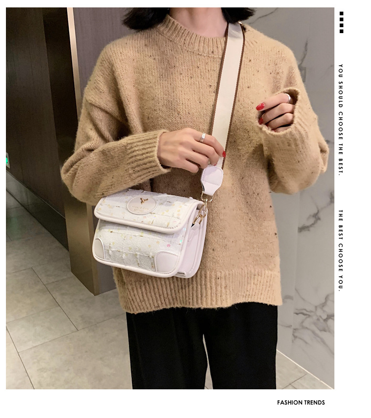 Womens popular new fashion oneshoulder messenger small square bag wholesale NHTC249297