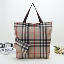 廠家直銷 大容量折疊防水牛津布女包便攜式環保購物袋手提單肩包