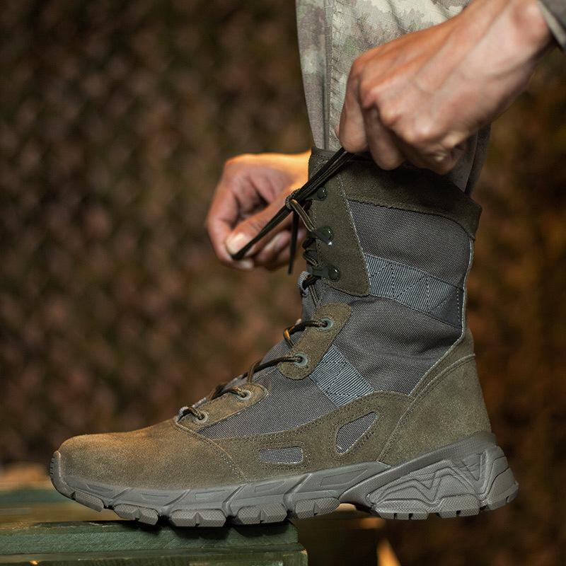 亚马逊Wish跨境爆款 山地野营用品户外军靴战斗战地靴男鞋沙漠靴