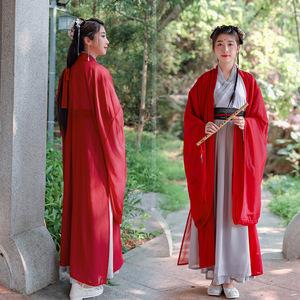 Swordsmen warrior chinese ming qing han hanfu adult Hanfu women drunk Hongyan Guangxiu student ancient Weijin big sleeve shirt