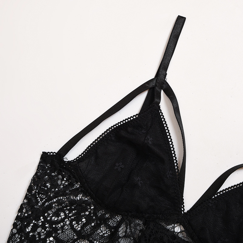 sling lace stitching mesh sexy two-piece sexy lingerie NSWY42936