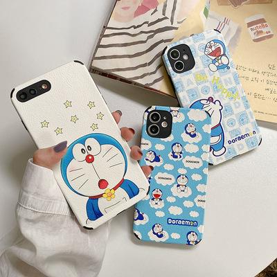 货源哆啦A梦苹果11Pro手机壳Xsmax小羊皮软壳7plus全包适用iPhoneXs女批发