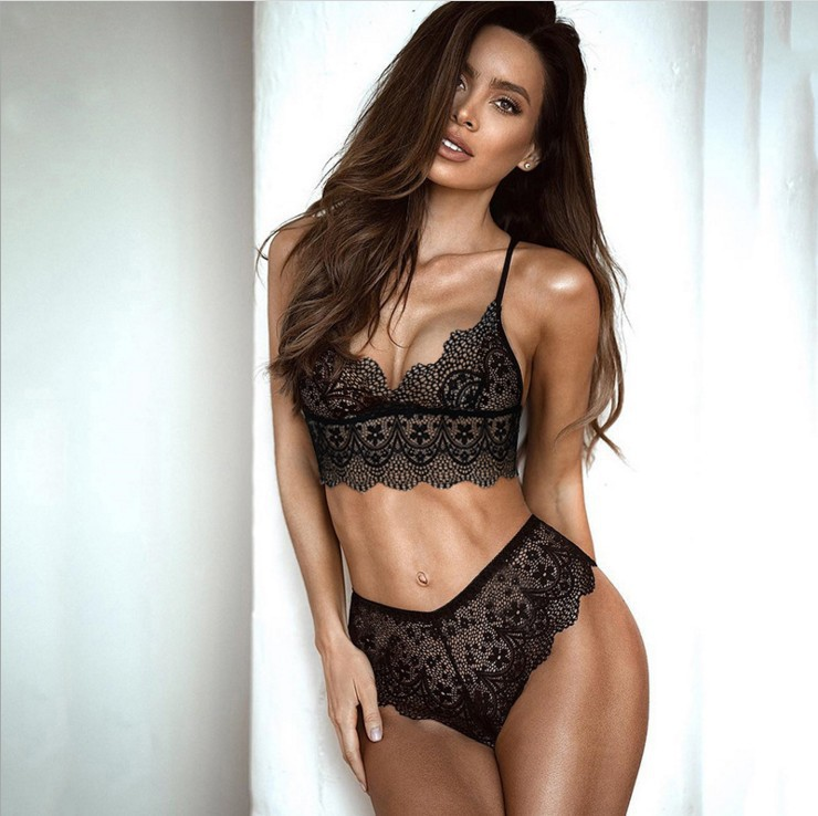 new underwear hot sale underwear female lace three-point sexy underwear suit NHYF230393