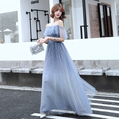 Bridesmaid Dress FAIRY BLUE bridesmaid dress long wedding dress sisters dress evening dress