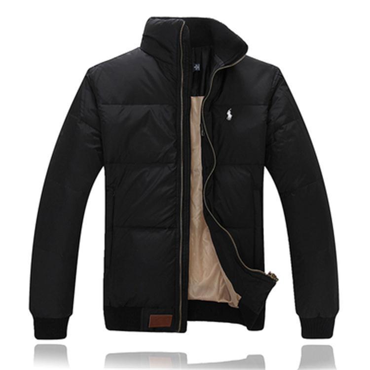 2020款保罗羽绒服男装冬装立领加厚保罗羽绒服时尚商务修身外套潮