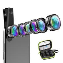 APEXEL手機鏡頭廣角微距魚眼偏振星光六合一套裝抖音神器通用爆款