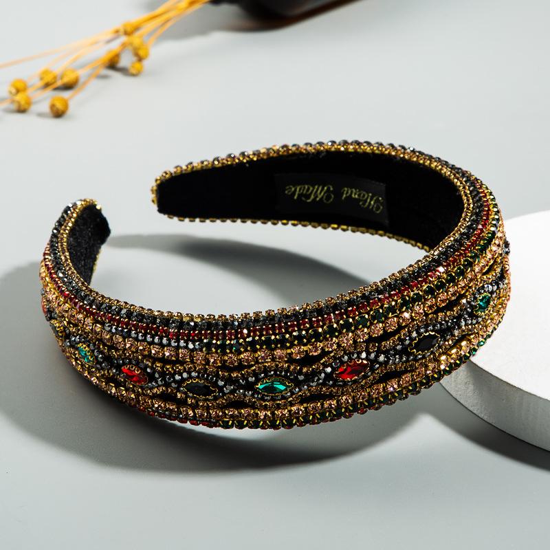 heavy industry full diamond high-end headband luxury evening dance temperament Baroque hair accessories NHLN228735