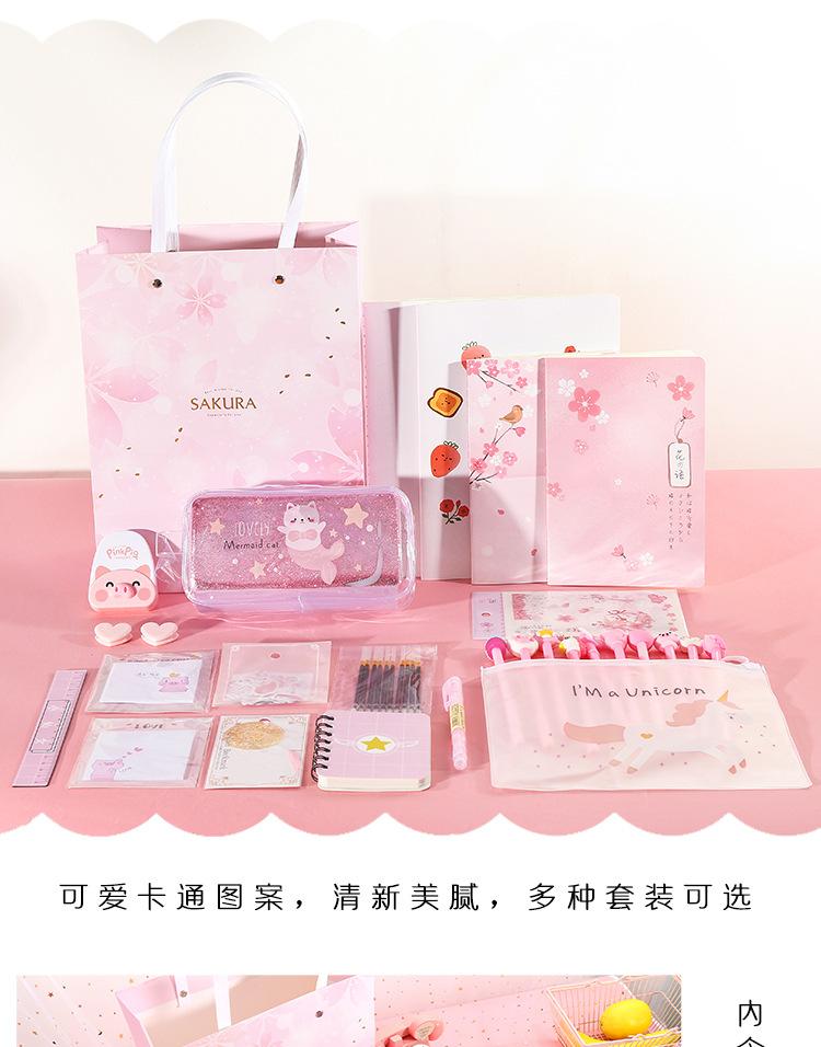 New fashion school stationery set combination creative school supplies student gift box wholesale NHHE211879