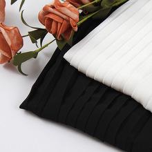 75D高捻高密雪纺压褶面料单层不透春夏女装百褶裙面料