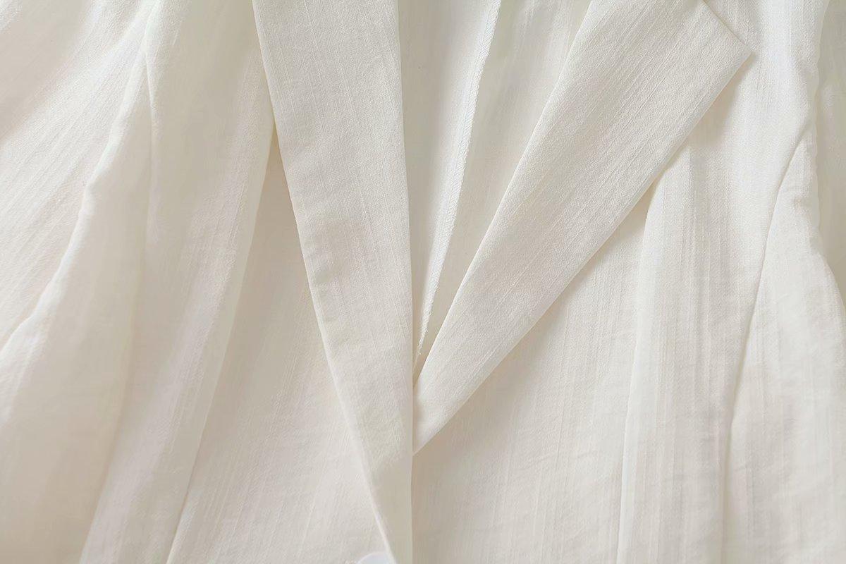 wholesale autumn slim lapel pocket curling ribbon sleeves children's small suit jacket  NSAM3548