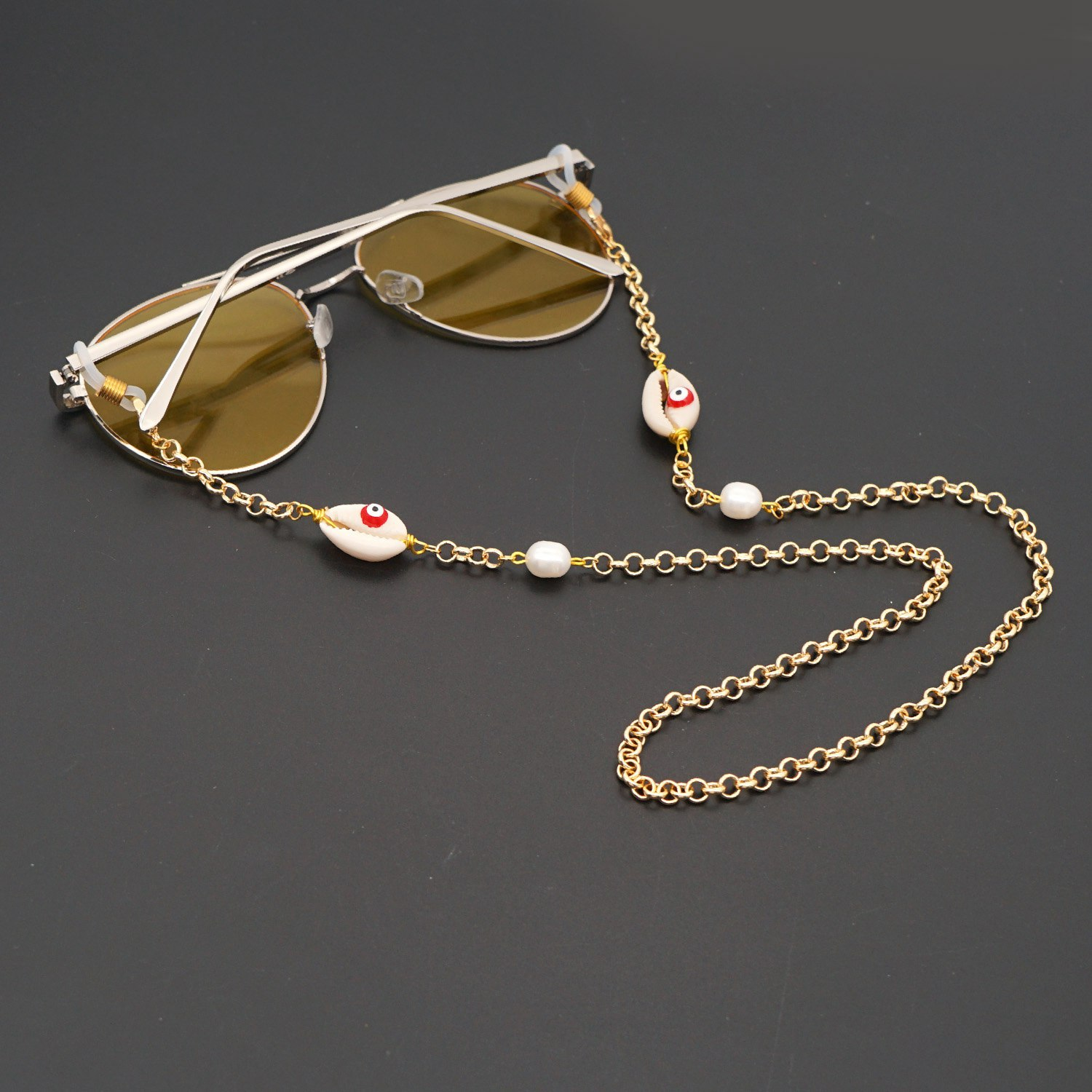 Exaggerated lanyard anti-skid glasses chain necklace  NHGW279005