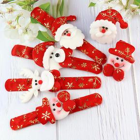3pcs Christmas gift children toys Christmas bracelets Santa Claus clap circle Snowman Elk Pop Circle