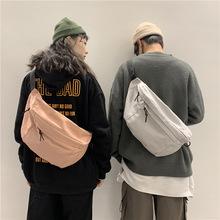 潮男斜挎包包ins时尚个性大容量港风街头潮牌胸包多功能运动腰包