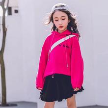 童裝兒童套裝秋冬加絨衛衣2020新款廠家批發中大童套頭帽衫多件套