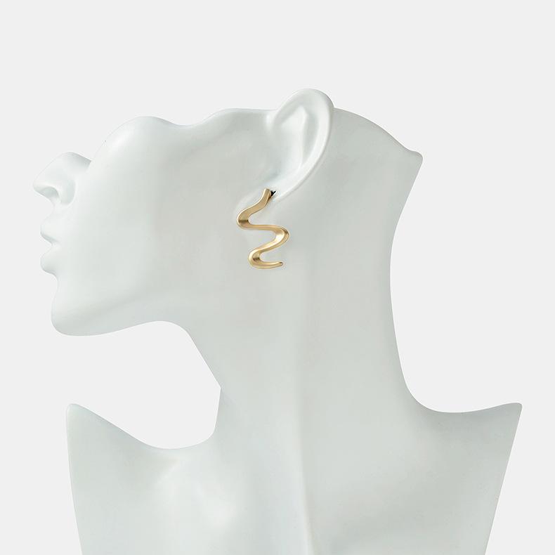 New Earrings Korea Simple S925 Silver Needle Snake Ear Studs Fashion Alloy Ear Studs NHQS206072