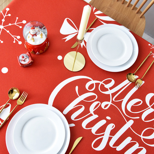 Tablecloth table cloth table cover Christmas table red jubilant rectangle Taipei European modern tea table waterproof cover