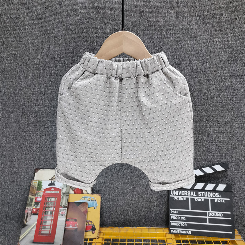 Boys' Casual Shorts Wave Point 5-Point Pants Small And Medium Children'S Fashionable Pants