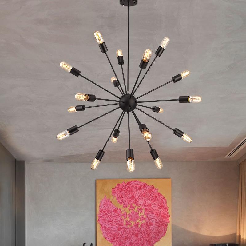 创意工业风美式复古铁艺工程人造卫星吊灯客厅餐厅装饰酒吧台灯具