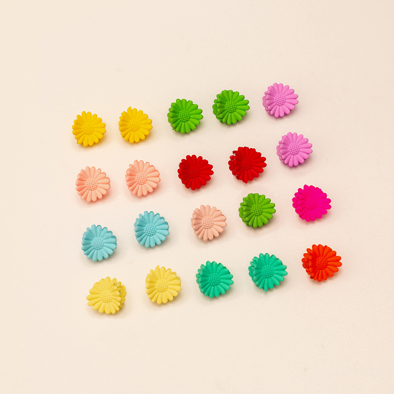 simple hairpin fashion candy color girl clip color flower braided hair clip wholesale NHAU240840