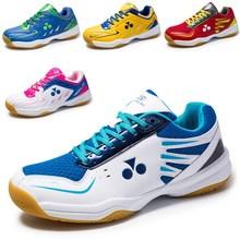 跨境新款羽毛球鞋舒适跑步鞋情侣运动乒乓球鞋男轻便透气网球鞋