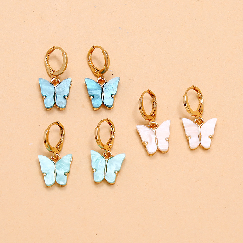 Hot sale Set Earrings Fashion Simple Retro Shell Butterfly 3-Piece Earrings wholesale nihaojewelry NHKQ236143