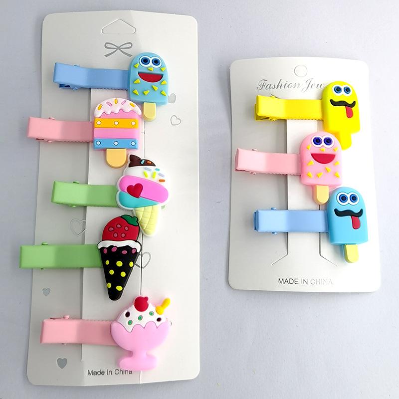 Fashion cartoon doll ice cream cute headdress side bangs girls hair clip NHDI249444