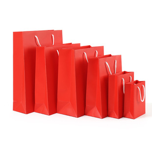 【One year warranty】Big red hand-held paper bag for festive wedding gifts