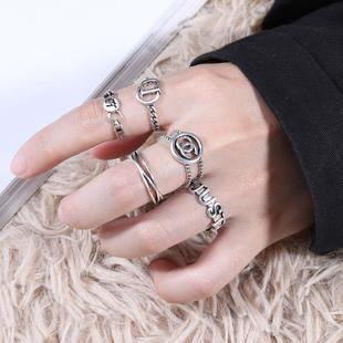 Women's retro silver Thai silver ring not inlaid with 925 silver factory wholesale ring ins cold and cool