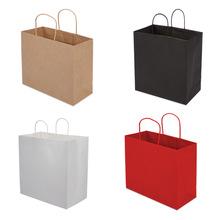 加厚牛皮紙袋服裝專柜購物袋超市包裝袋手提袋定做ins禮品袋定制