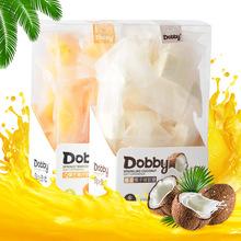 台湾旅行青蛙Dobby哆比果汁软糖芒果味椰子味休闲零食整箱批发