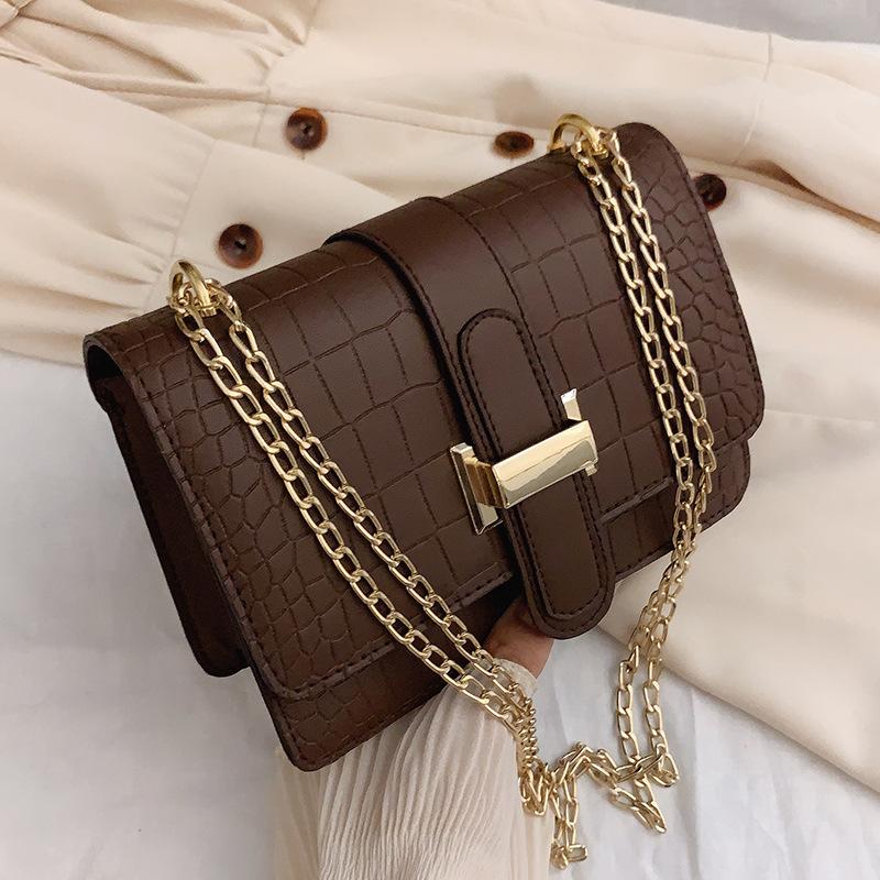 Bag Women Shoulder Bag Stone Grain Crossbody Bag Embossed Solid Color Small Square Bag