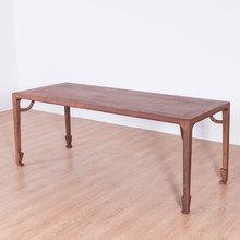 新中式老榆木茶桌茶台家用餐桌客厅家具现代简约实木家具泡茶桌子