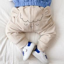 MINI贝贝城 冬季婴幼儿童装卡通加厚长裤深秋宝宝外出服加绒裤子