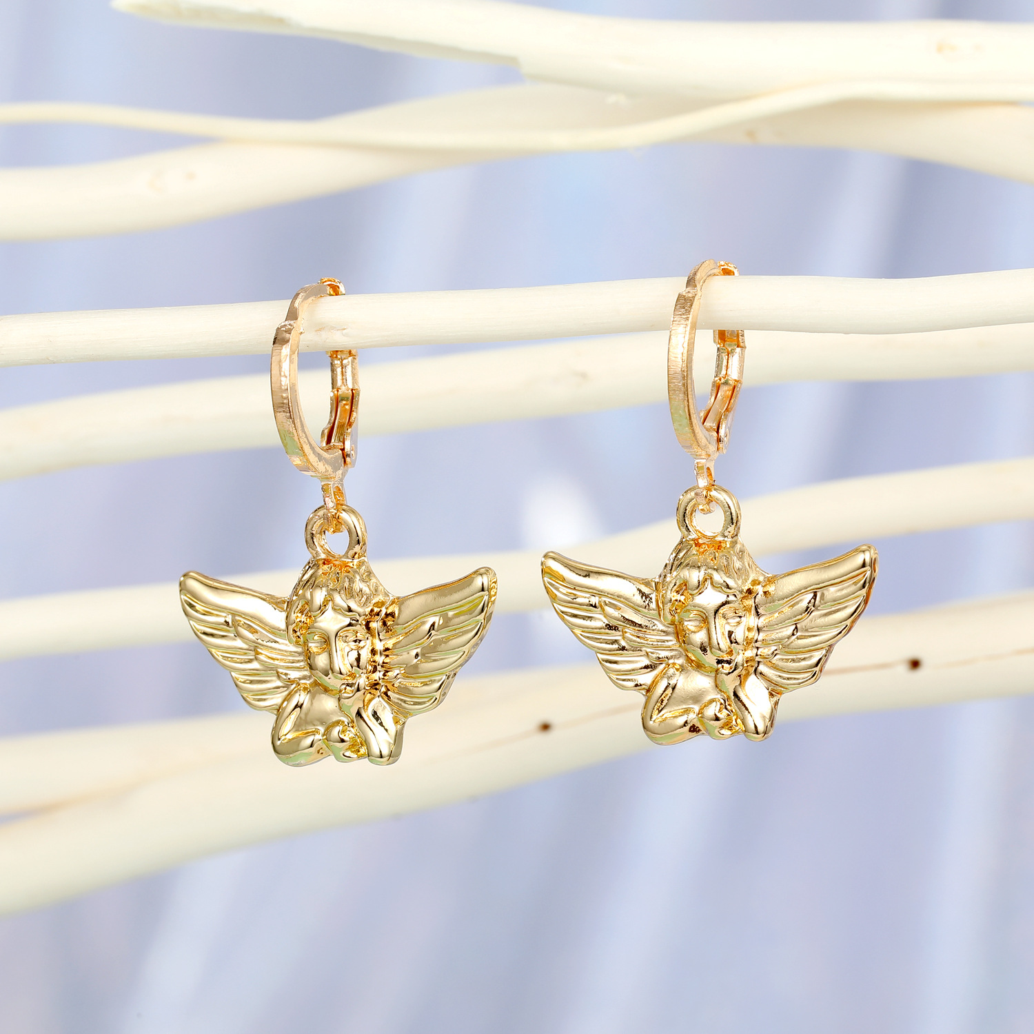 fashion jewelry Cupid earrings alloy angel earrings small hoop earrings wholesale NHGO217508