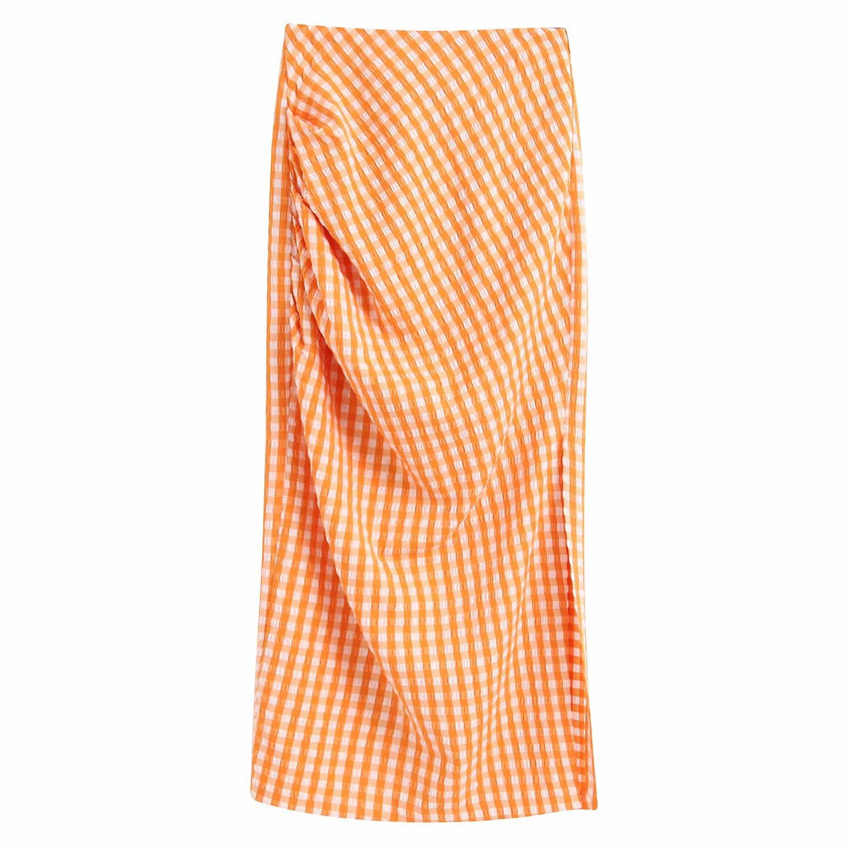 Fashion women 'dress wholesale women's new plaid skirt NHAM201490