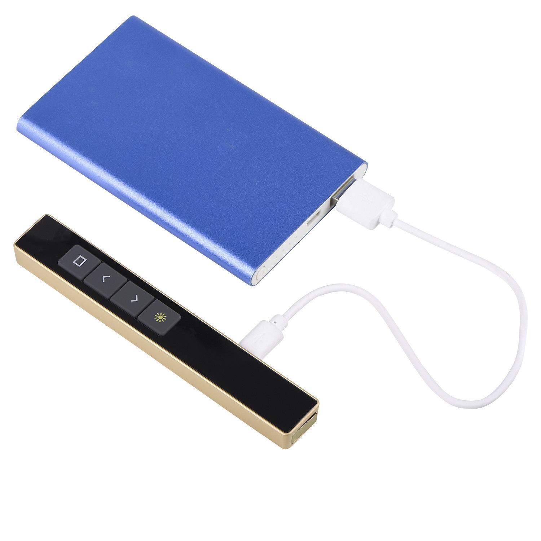 新款內置锂電池充電式PPT會議翻頁筆2.4G電子遙控筆多功能電子筆