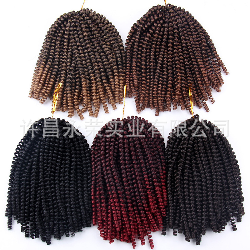 European and American wig spring twist h...