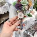 微商满天星满钻女手表简约两针精钢带蝴蝶扣表招代理代发