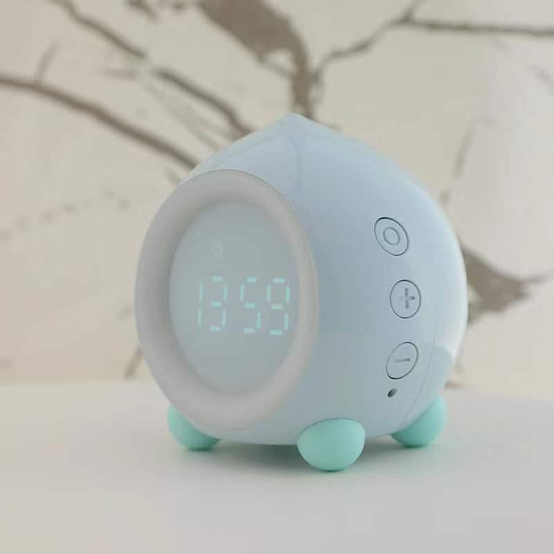 创意卡通儿童闹钟多功能迷你LED数字时钟睡眠夜灯智能APP蓝牙音箱
