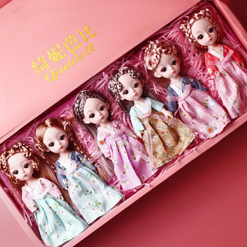 绮妮芭比洋娃娃套装礼盒仿真精致公仔玩偶女孩公主换装玩具礼物