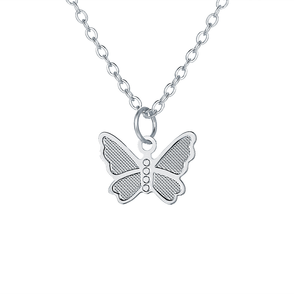 hotselling butterfly pendant necklace creative retro simple alloy clavicle chain wholesale nihaojewelry NHPJ232505