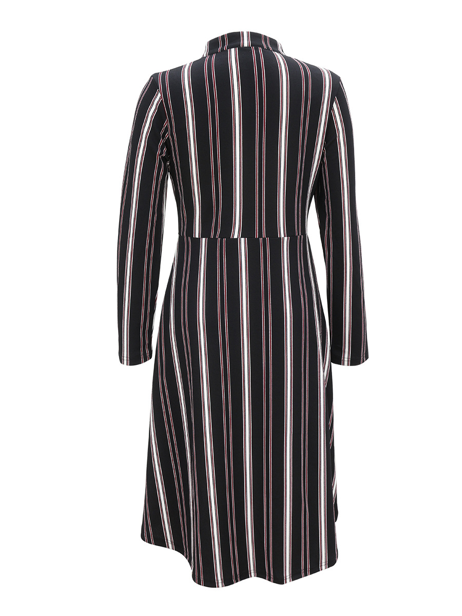 striped long-sleeved dress NSAL1889
