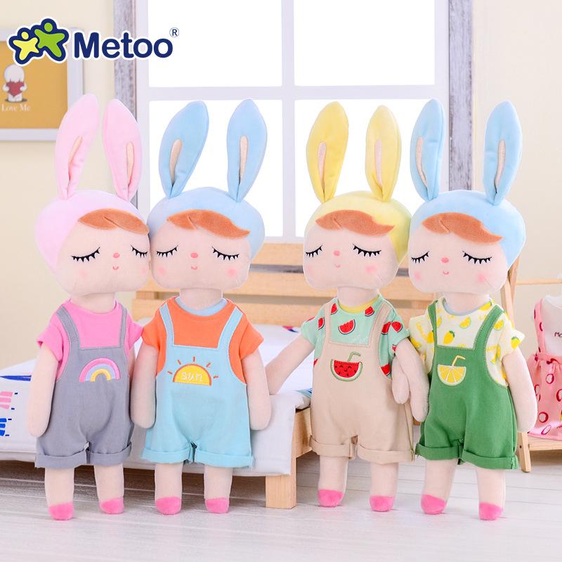 metoo咪兔换装款安吉拉公仔小女孩布娃娃毛绒玩具批发 儿童玩具