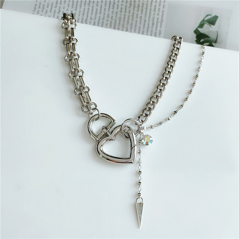 Korean popular jewelry alloy love chain hot selling accessories wholesale nihaojewelry NHVA233387