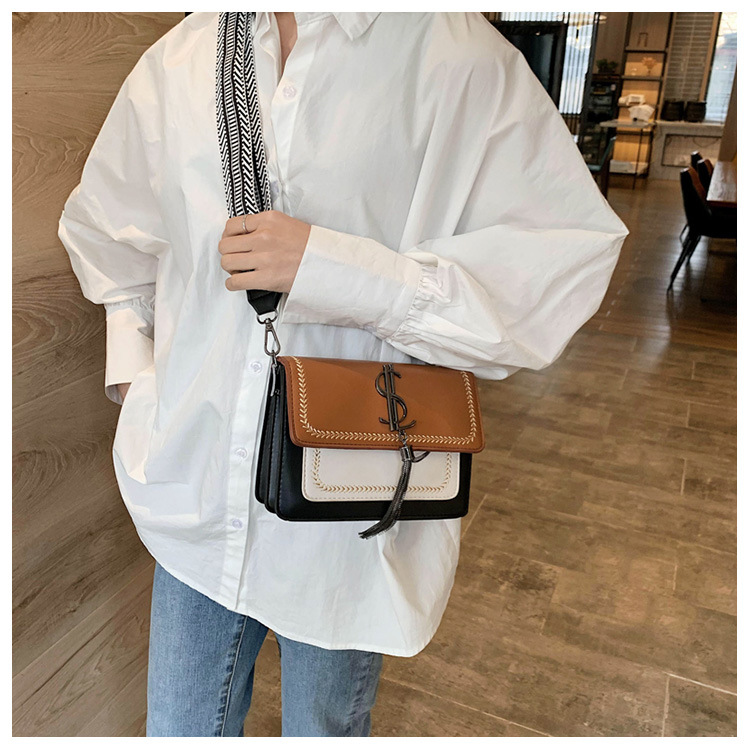 Small bags for women new Korean fashion hit color shoulder Messenger bag broadband small square bag suppliers china NHTC202366