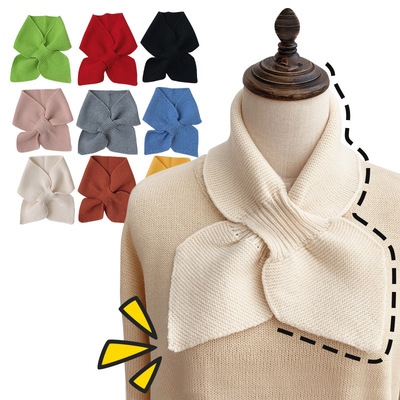 Fake collar Detachable Blouse Dickey Collar False Collar Scarf women versatile cute small neck warm knitted wool neck cover