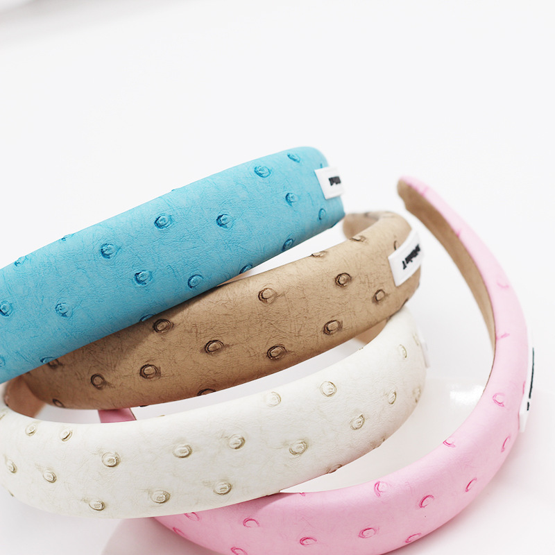 New fashion temperament simple leather headband hair accessories ladies personality street shot hair accessories wholesale nihaojewelry NHWJ221533