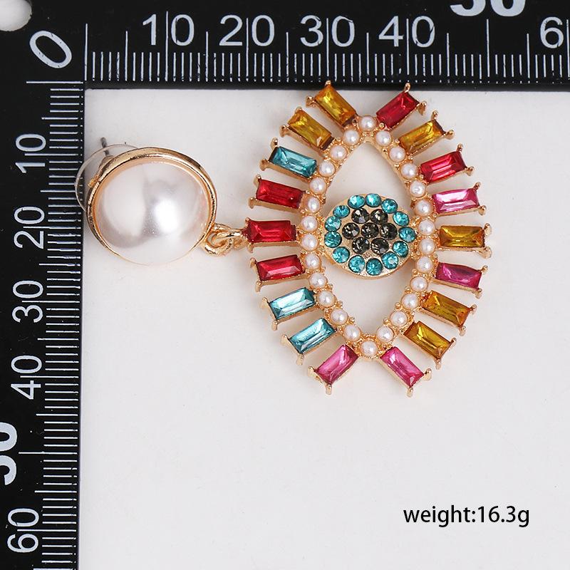 New Angel's Eye Earrings Women Korean Tide French Devil Stud Earrings NHJJ200929
